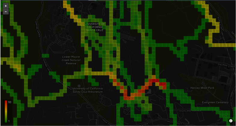 Strava trail viz for Santa Cruz