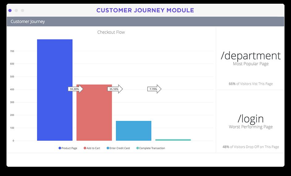 Customer journey visualization in Looker screenshot